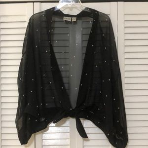 Chico's size 3 sheer silk wrap top